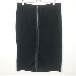 Lane Bryant Zippered Front Skirt Career Plus Size